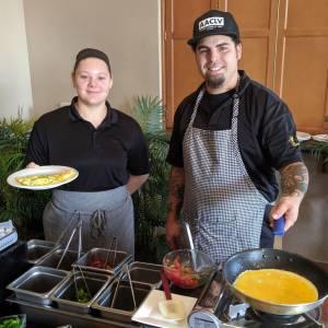 Staff Omelet Bar