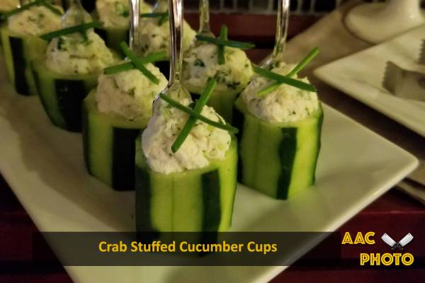 Crab Stuffed Cucumber Cups