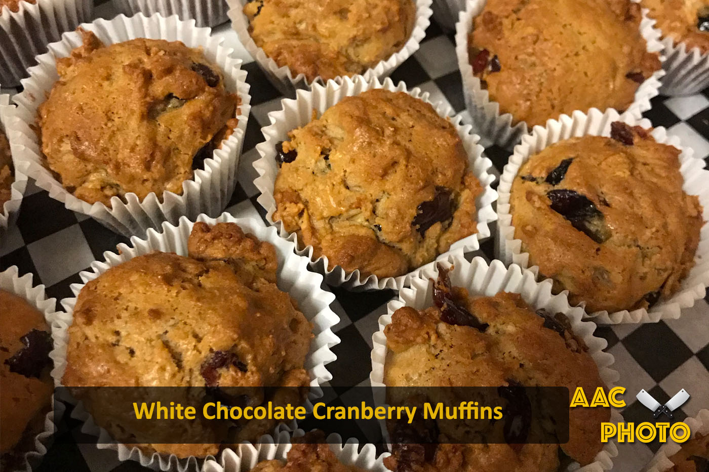 Cranberry White Chocolate Muffins