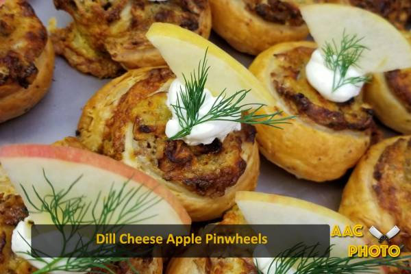 Dill Cheese Apple Pinwheels