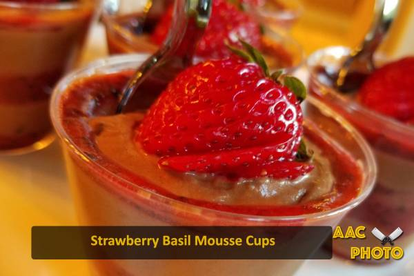 Strawberry Basil Chocolate Mousse