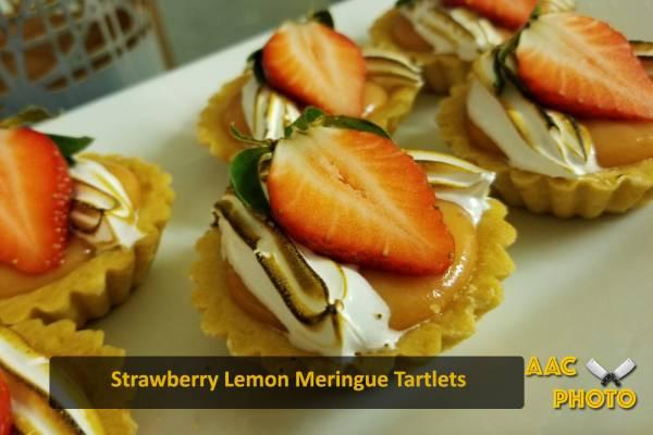 Strawberry Lemon Meringue Tartlets