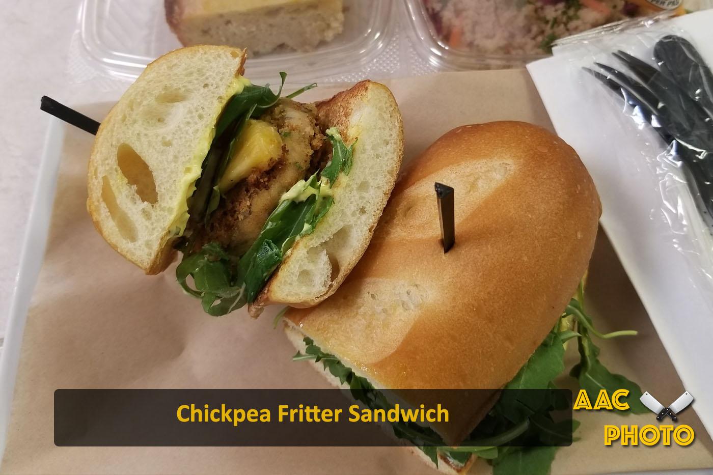 Chickpea Fritter Sandwich