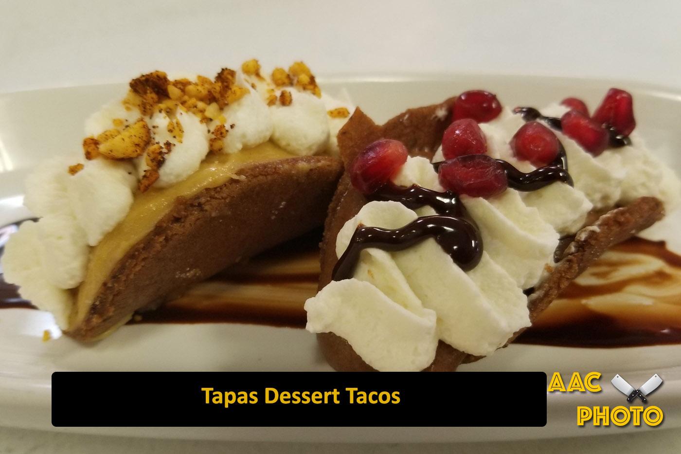 Tapas Dessert Tacos