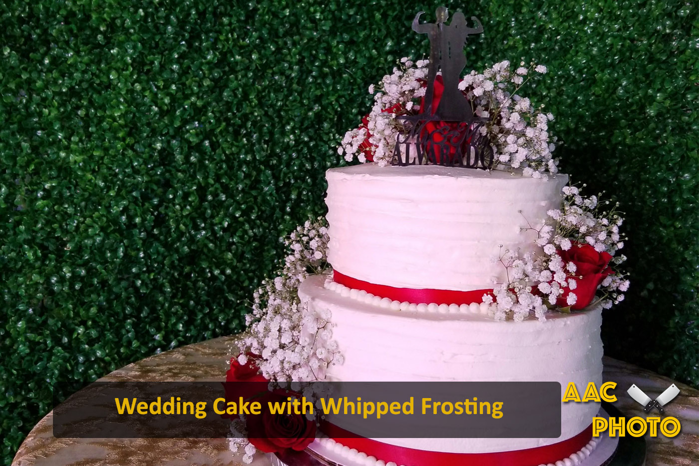 Whipped Frosting Wedding Cake