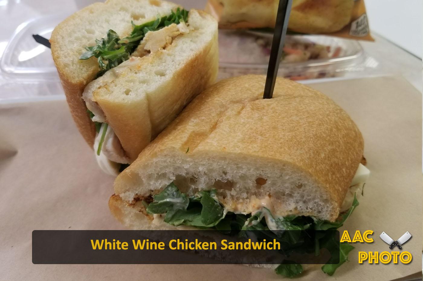 White Wine Chicken Sandwich