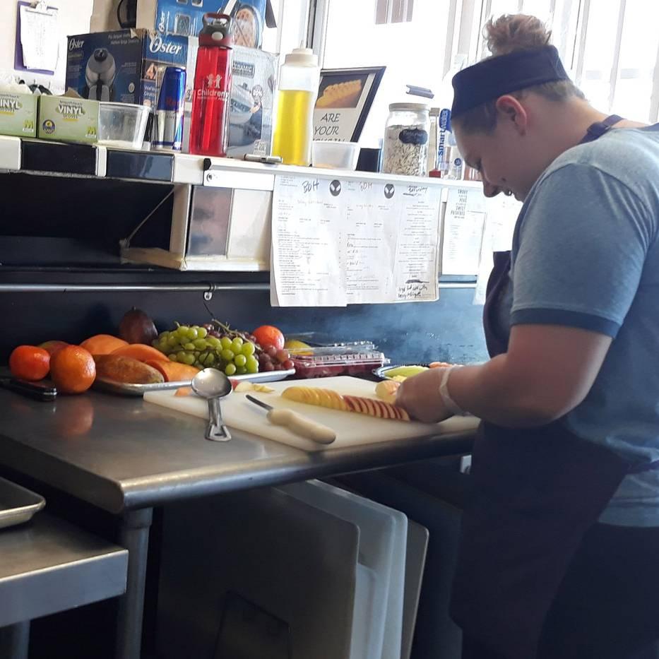 Chef Staff Fruit Platter Prep